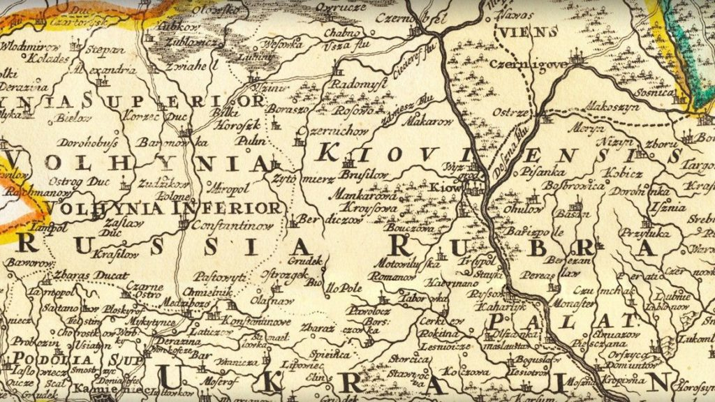 Old Ukrainian map for genealogy research